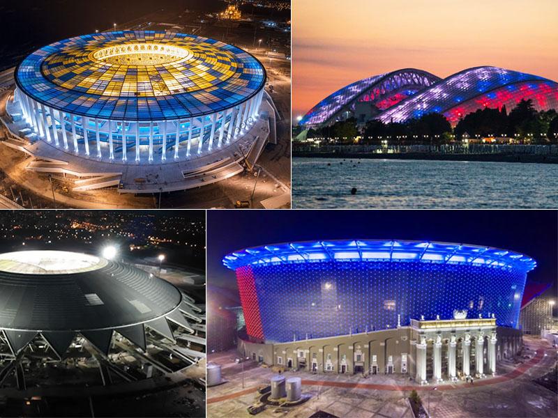 Arenor i VM i Ryssland 2018 detaljerad genomgång och karta