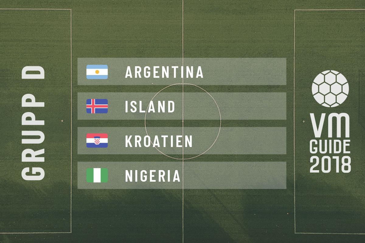 Grupp D - fotbolls-VM 2018