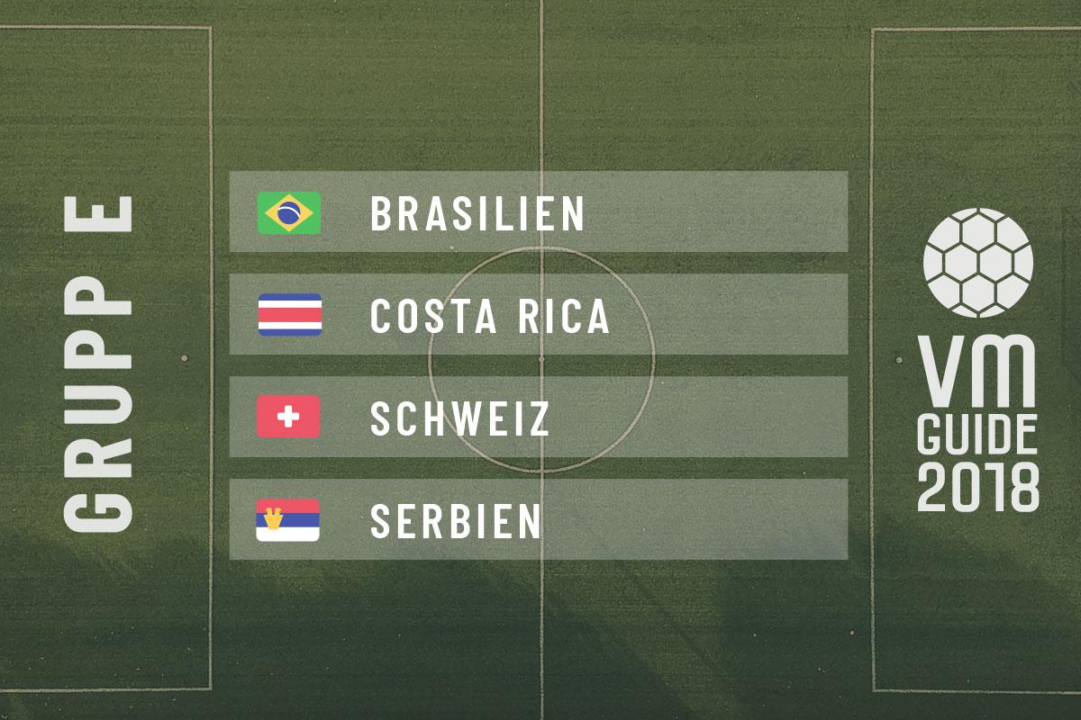 Grupp E - fotbolls-VM 2018