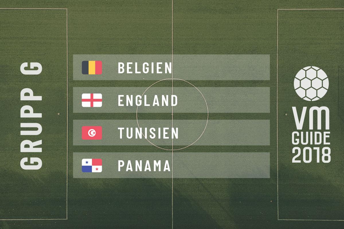 Grupp G - fotbolls-VM 2018