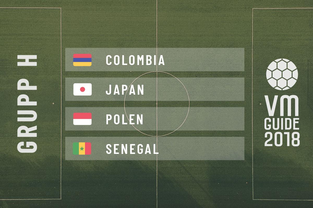 Grupp H - fotbolls-VM 2018