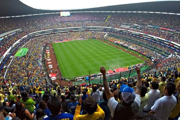 Azteka Stadium Mexiko herrlandslag möter Skottland