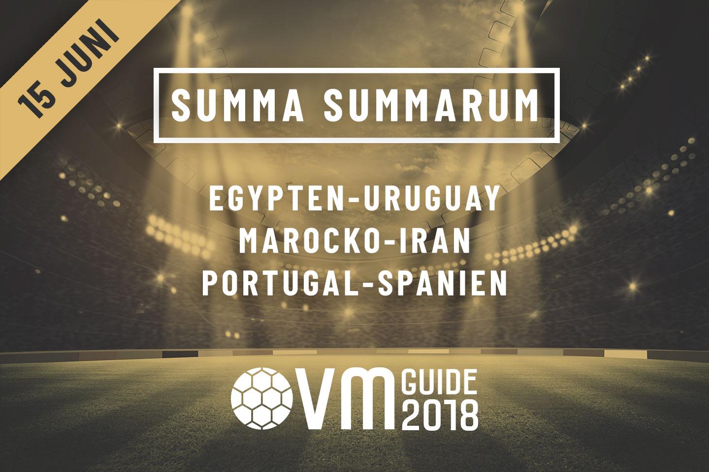 Summa Summarum 15 juni VM i Ryssland 2018