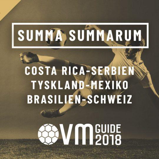 Summa Summarum 17 juni VM i Ryssland 2018
