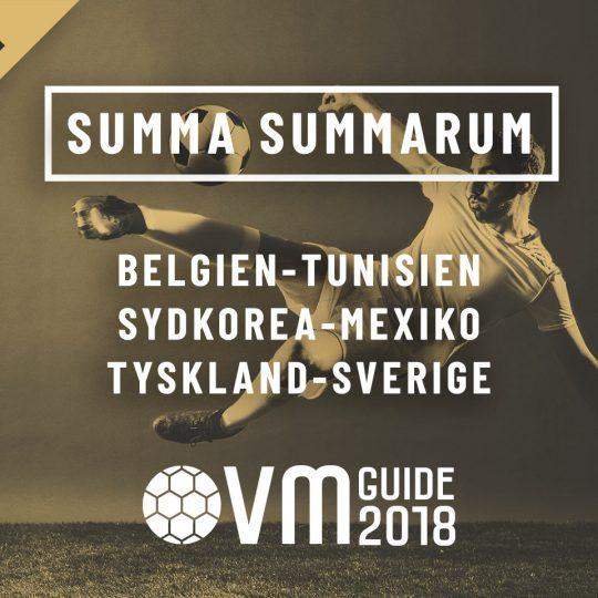 Summa Summarum 23 juni VM i Ryssland 2018