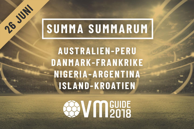 Summa Summarum 26 juni VM i Ryssland 2018